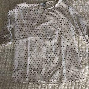 Anchor print blouse